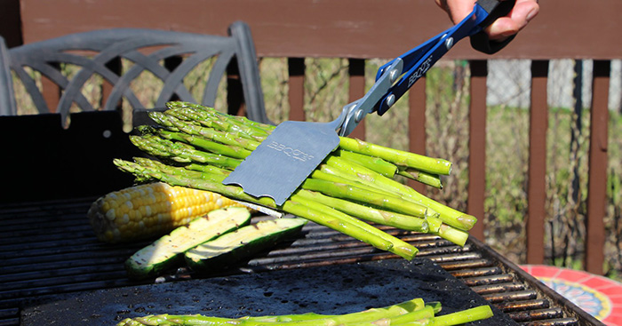 bbq croc multipurpose cooking tool for grilling asparagus