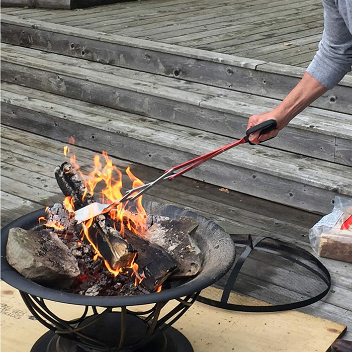 bbq croc multipurpose cooking tool for handling firepit wood