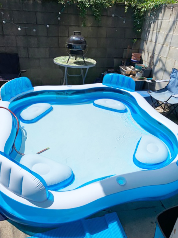 blow up pool lounge customer review jamie cole