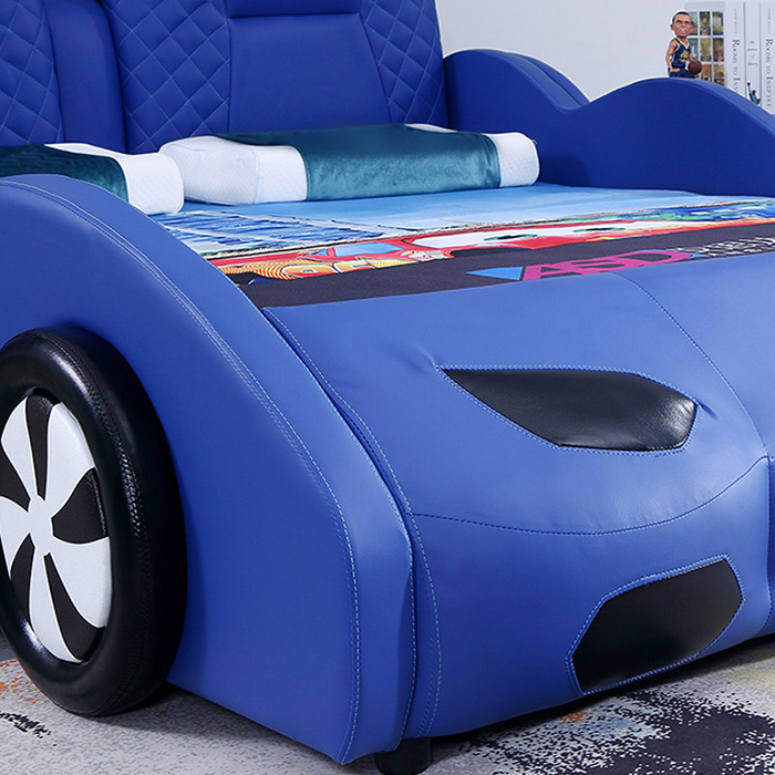 blue supercar bed foam headlight