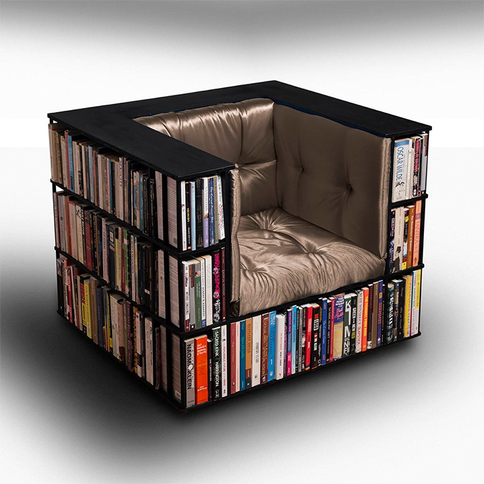 bookcase chair luxury club library