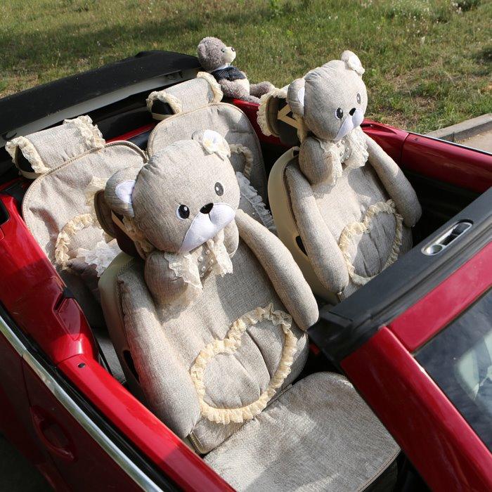 car upholstery cover bears coffee