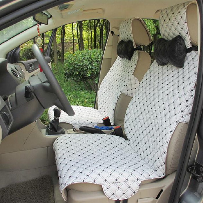 car upholstery cover leather white-black