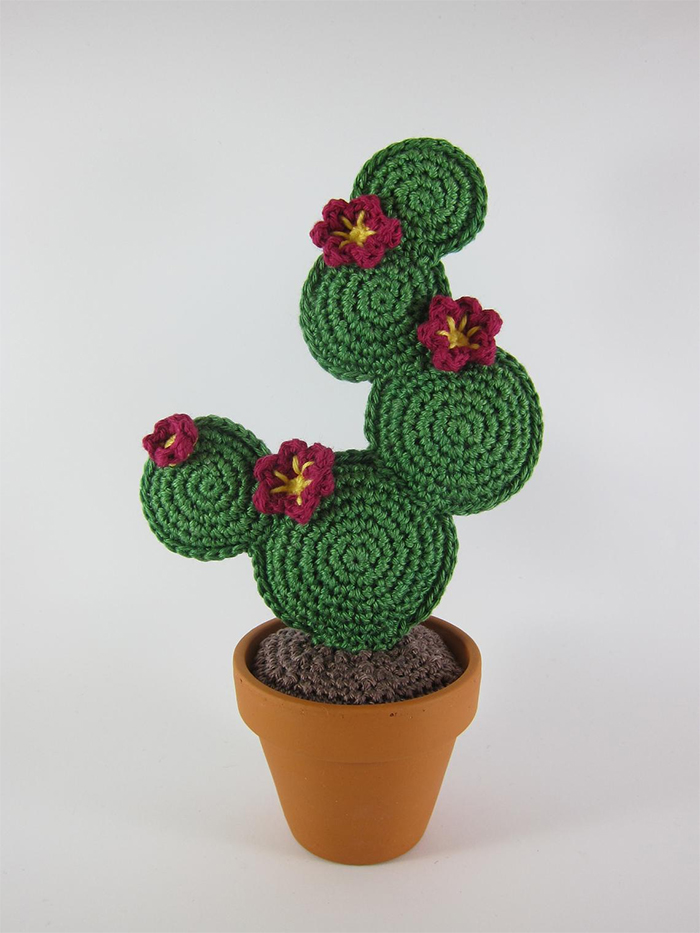 crochet cactus faux succulent