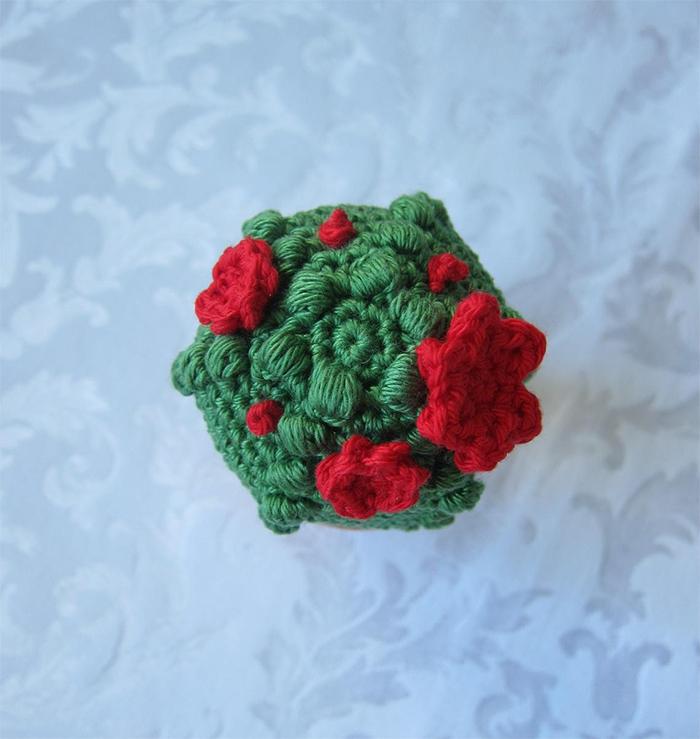 crocheted succulent top