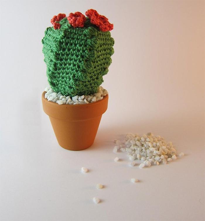 crocheted succulent