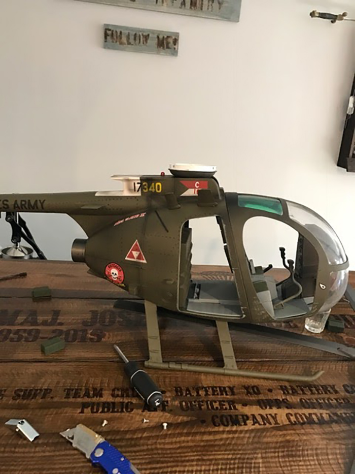 diy helicopter ceiling fan assembly