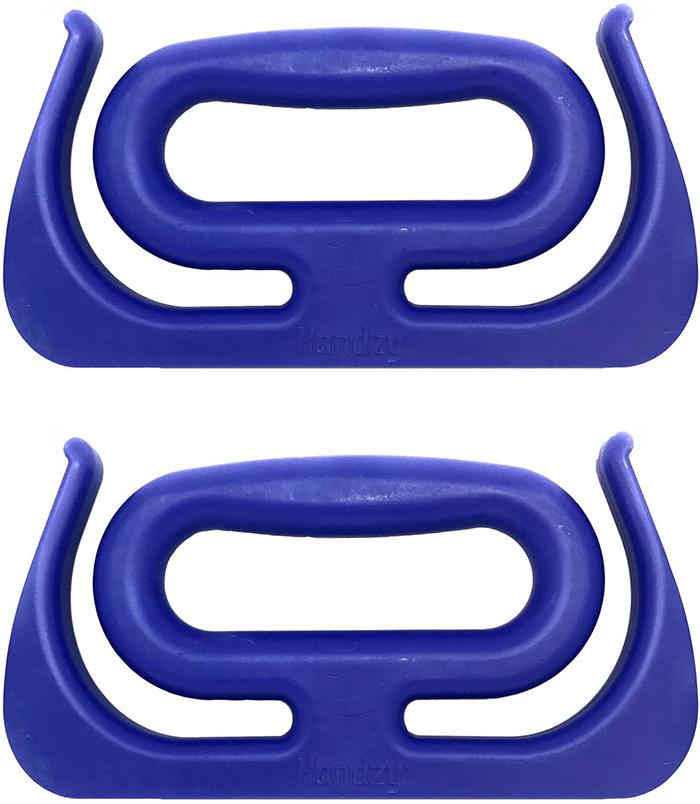 ergonomic item holder blue