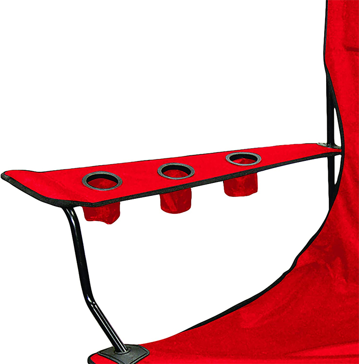 foldable canvas chair with six cupholders