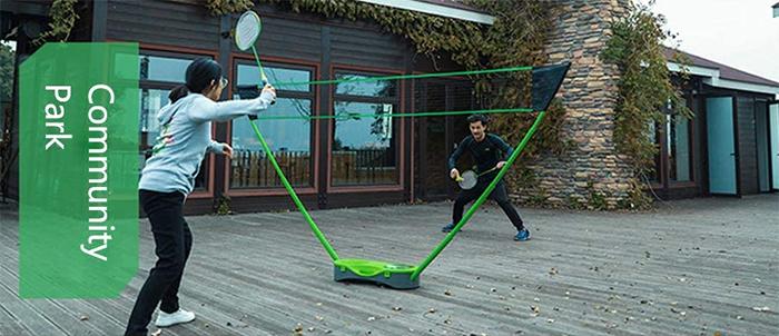 freestanding base badminton community park
