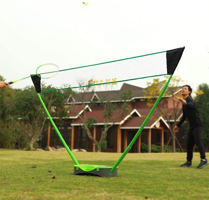 freestanding base easy set up badminton