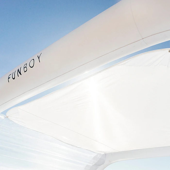 funboy inflatable lounger removable sunshade