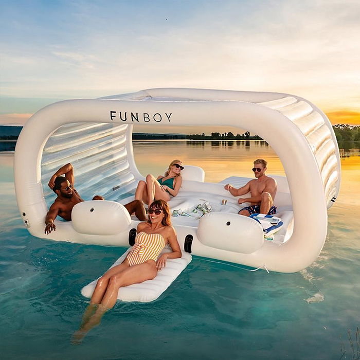funboy inflatable pool and beach lounger