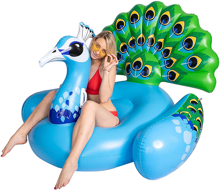 giant bird-shaped inflatable lounger
