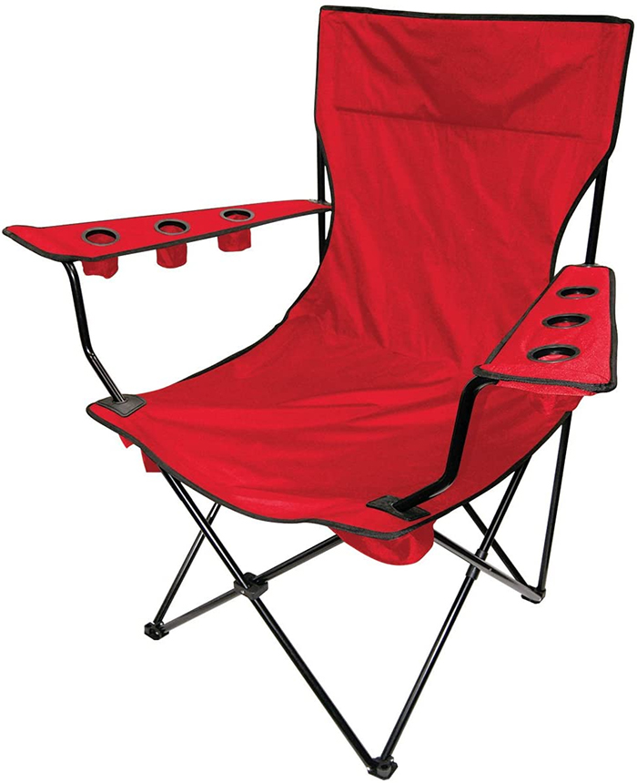 giant folding chair red