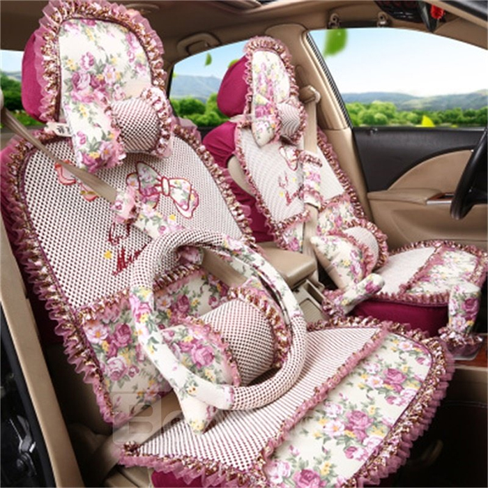 girly decorative seat covers red