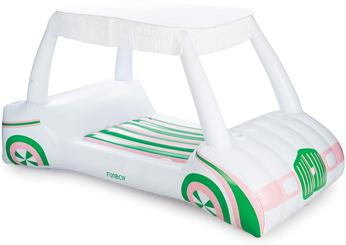 golf cart pool float with sunshade