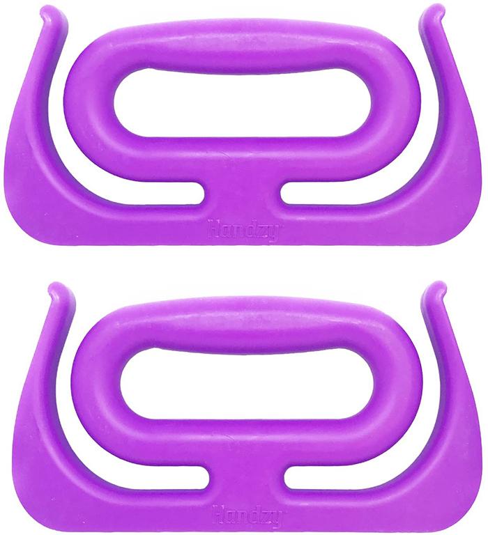 grocery bag handle purple