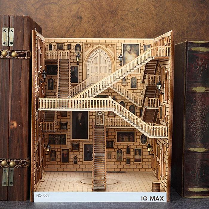 harry potter moving staircases bookshelf insert