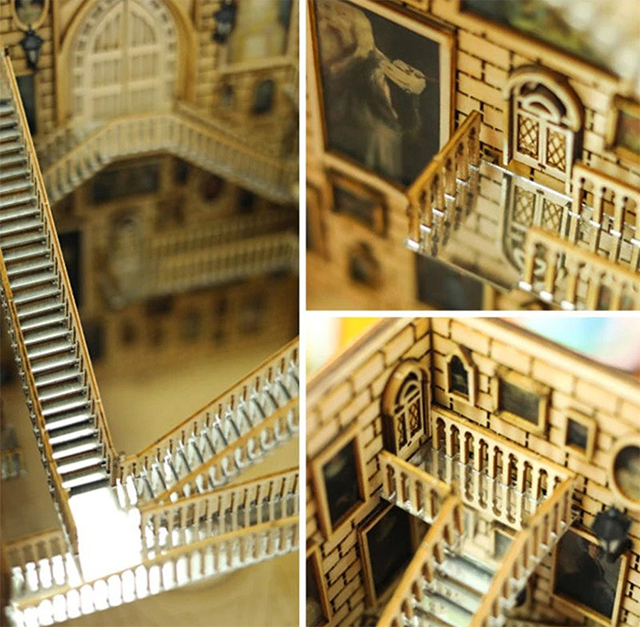 harry potter moving staircases diorama details