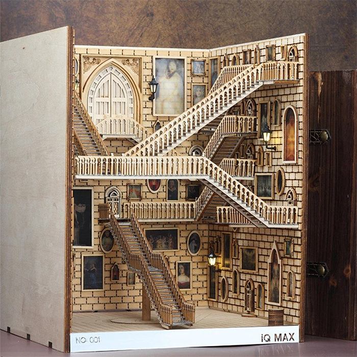 harry potter moving staircases diorama