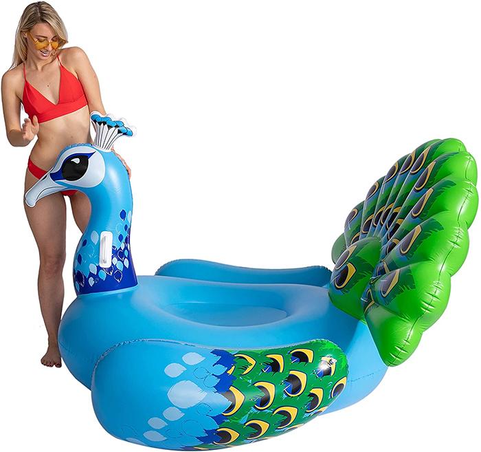 inflatable bird lounger