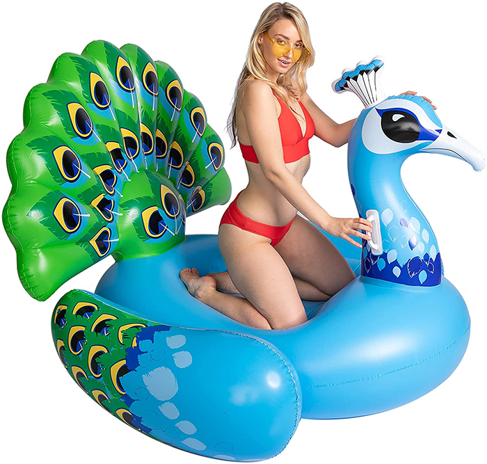 inflatable giant bird lounger