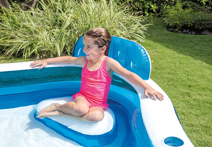 inflatable pool with built in lounge chairs