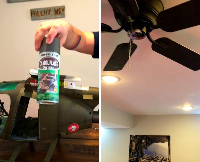 joe burlas makeshift chopper fan spray paint