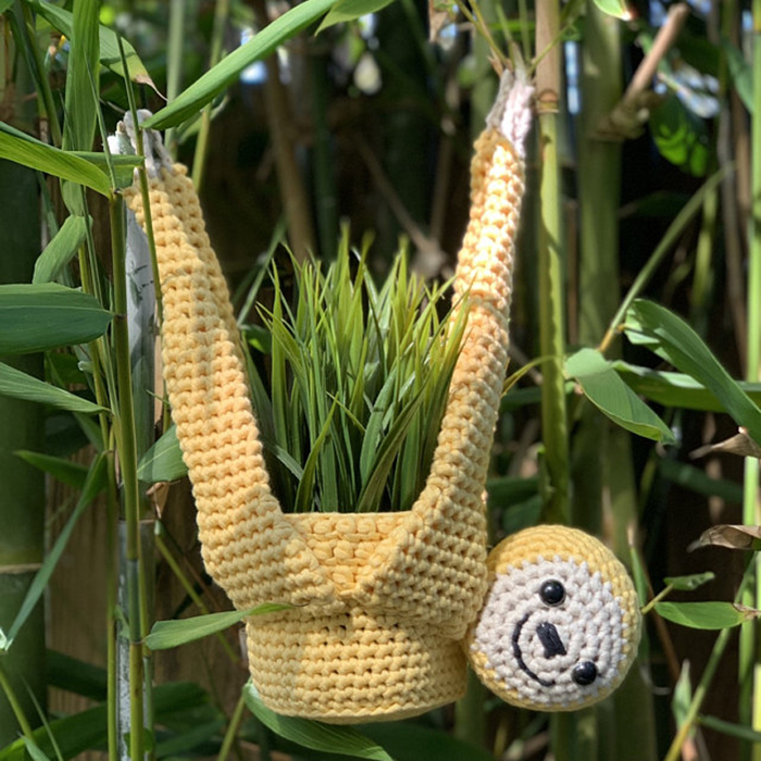 knitted sloth planter hanger customer review sazofduloc42