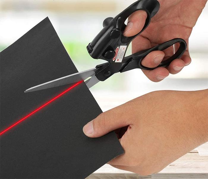 laser guided scissors battery powered