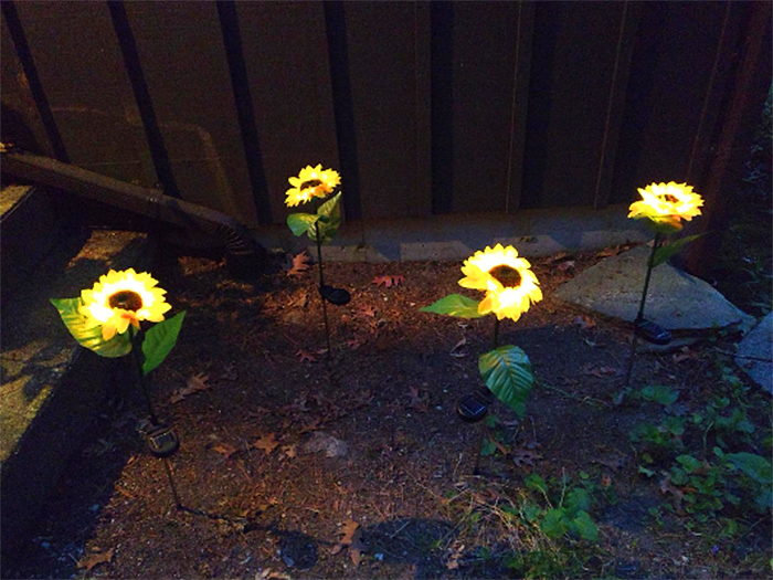 light up faux flowers led lights