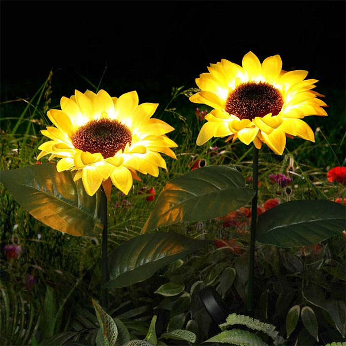 light up faux flowers yellow