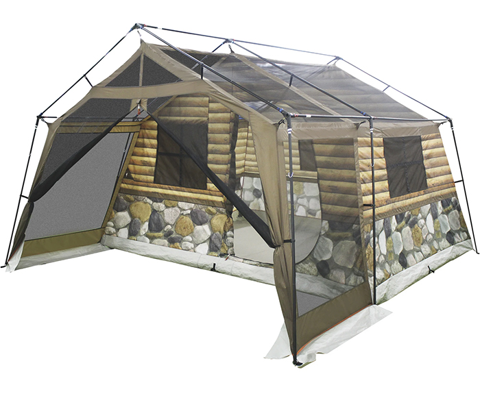 log cabin tent without rainfly