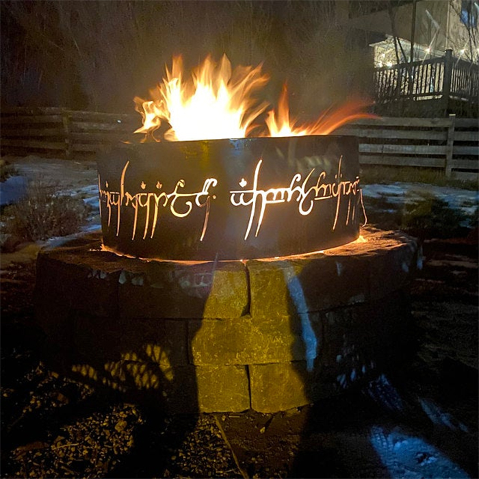 lord of the rings fire pit inscriptions