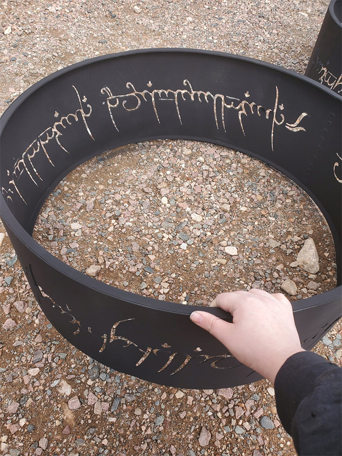 lord of the rings fire pit steel metal