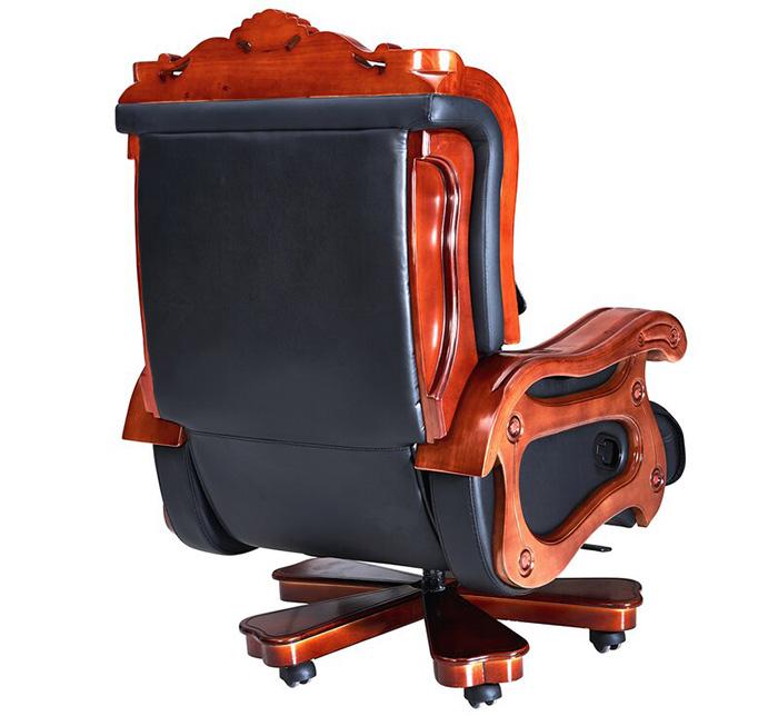 luxurious genuine leather office armchair