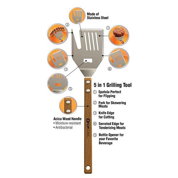 multi-tool grilling utensil