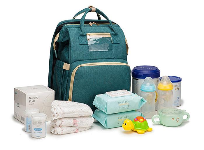multifunctional baby bag green