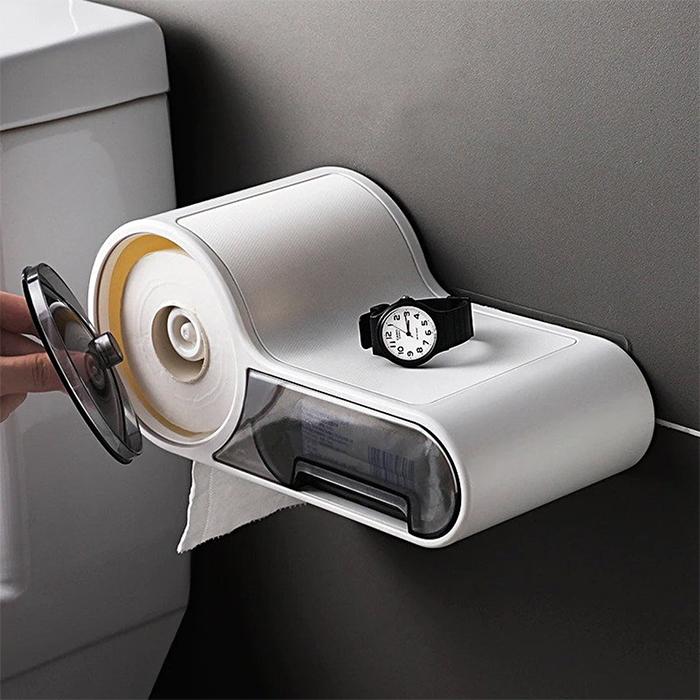 multifunctional toilet paper holder dispenser