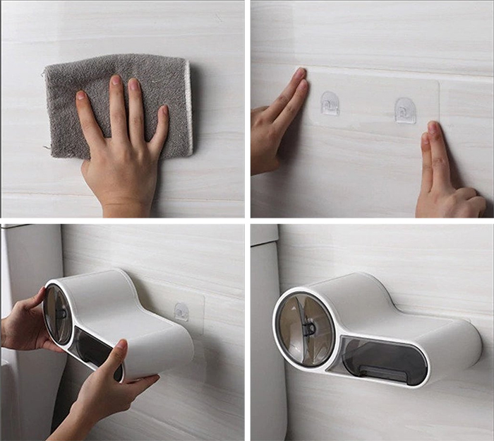 multifunctional toilet paper holder how to mount