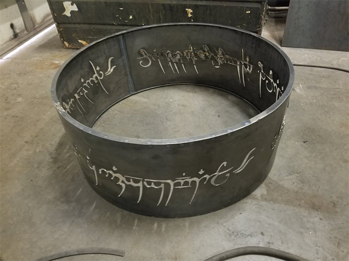 one ring inspired fire pit