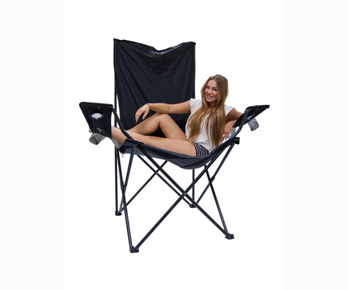 oversized foldable chair black