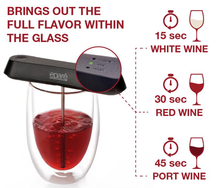 pocket wine aerator presets
