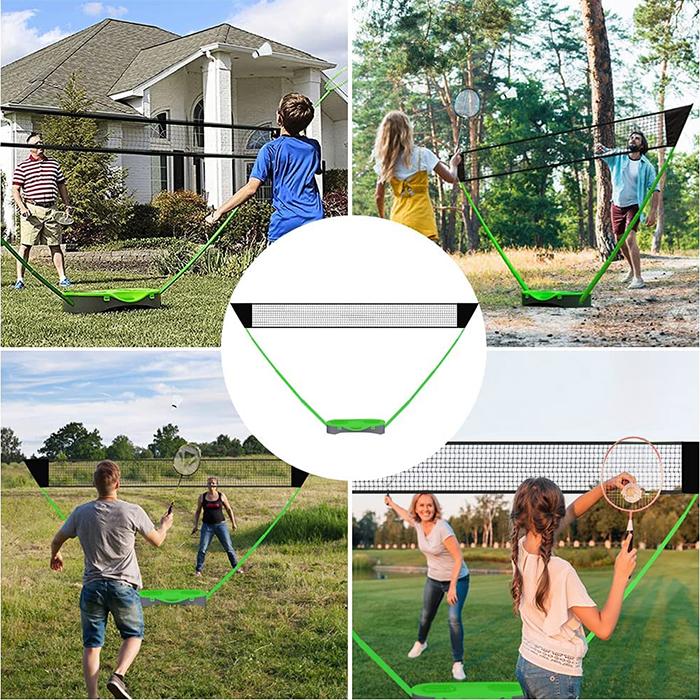 portable badminton net set easy setup