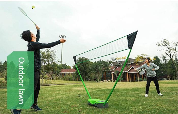 portable badminton net set outdoor lawn