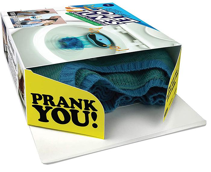 prank gift box bathroom speaker