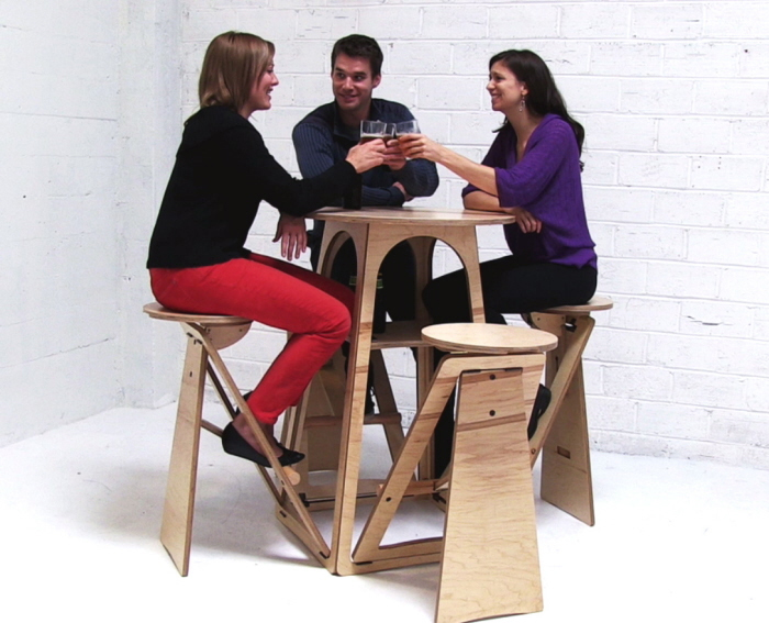quad micro bar table transforming furniture