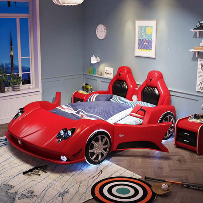 red supercar bed for grownups