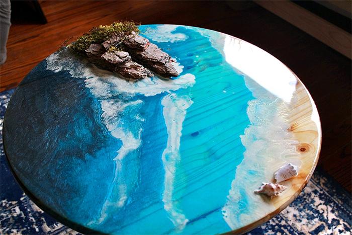 resin ocean coffee table